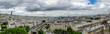Panoramic view from the towers of Notre-Dame Cathedral, Paris, France.