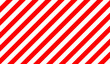 Striped red and white diagonal pattern.Striped red pattern. Warning background for hazardous elements. .