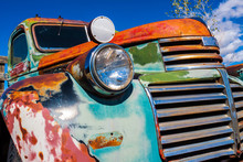 Old  Multicolored Pickup With ...