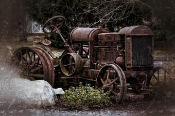 Fototapeta na wymiar Old Rusty Metal Structure