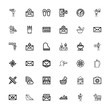 Editable 36 contour icons for web and mobile