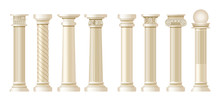 Realistic Antique Pillars Set....