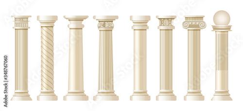 Fotografía Realistic antique pillars set