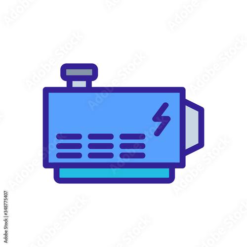 Photo electric stable alternator icon vector
