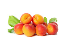 Fresh Tasty Apricots Isolated ...