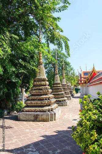 Stupas in Wat Pho Canvas Print
