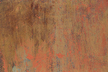 Rusty Metal Background With Ol...