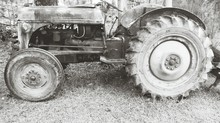 Abandoned Tractor On Grass