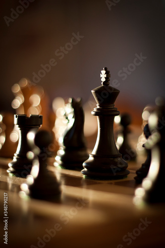 Fotografie, Obraz Close-up Of Chess Pieces On Board