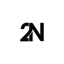 2n Letter Original Monogram Logo Design