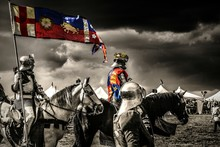 Richard Iii With Warriors On Battle Field
