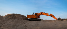 The Industrial Excavator Is Di...