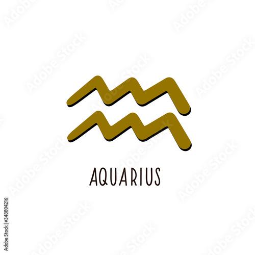 Zodiac sign Aquarius. Vector zodiac sign Aquarius Canvas Print