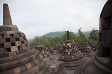 Stupas At Borobudur Temple Aga...