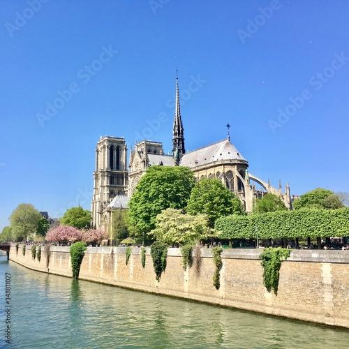 Notre Dame avant le feu Canvas Print