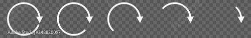 Fotografia Arrow Icon White | Circle Arrows | Infographic Illustration | Direction Symbol |