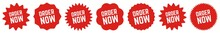 Order Now Tag Red | Icon | Sti...