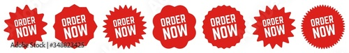 Fotografiet Order Now Tag Red | Icon | Sticker | Deal Label | Variations