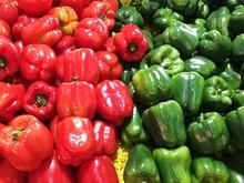 Full Frame Shot Of Bell Pepper In Market