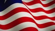 Liberia waving background flag as emblem for democracy - animation seamless video loop