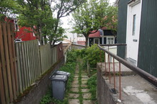 Image Of Backyard With Dumpsters