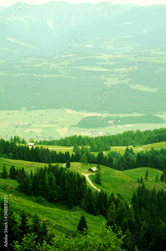 Fototapety, obrazy: Scenic View Of Green Landscape Against Sky