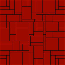 Pattern With Red Rectangles And Black Outline