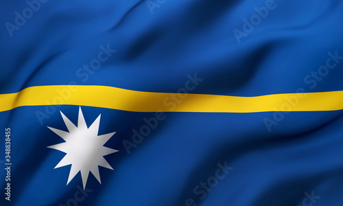 Photo Flag of Nauru blowing in the wind