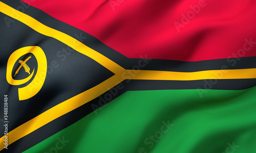 Photo Flag of Vanuatu blowing in the wind