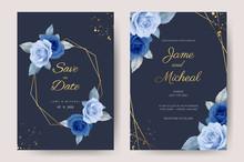 Wedding Invitation Cards, Blue...