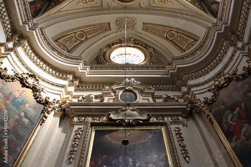 in a baroque church (our lady of immaculate conception) in Bormla (malta)