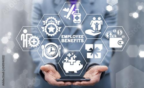 Fototapeta Employee Benefits Career Concept. Business Bonus Work Perks. obraz