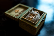 Wooden Box With Rings
