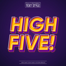 High Five Trendy Pop Art Vecto...