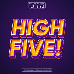 Obraz na PlexiHigh Five Trendy Pop Art Vector Text Effect