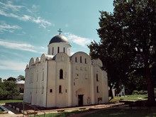 Boris And Gleb Cathedral Or Borisoglebsky Cathedral. Famous Architectural Monument Of The Pre-Mongol Period. Chernihiv City.