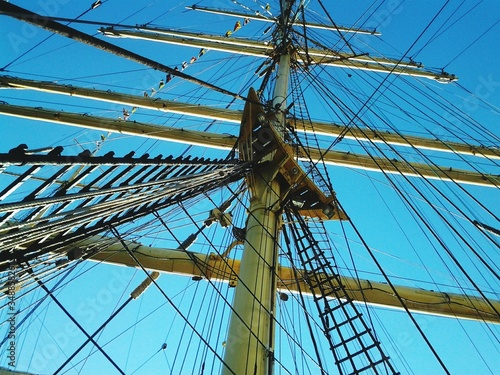 Low Angle View Of Mast Against Blue Sky © charles roy/EyeEm