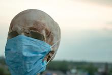 Skull In A Medical Mask, Close...