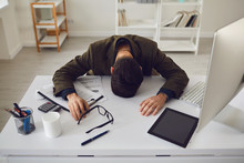 Businessman Tired Exhausted Wi...