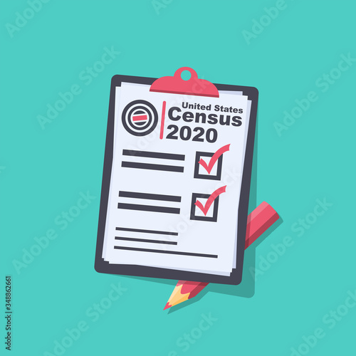 Valokuvatapetti Census 2020