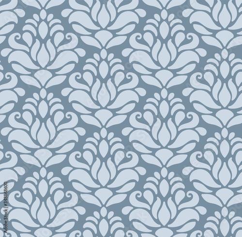 Fototapeta Blue pattern in the Baroque style