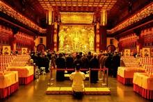 Interior Of Buddhist Temple