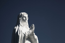 Ancient White Statue Of Virgin...