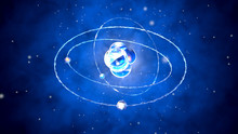 Atom Core With Orbiting Partic...