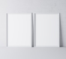 White Minimal Frame Design On ...