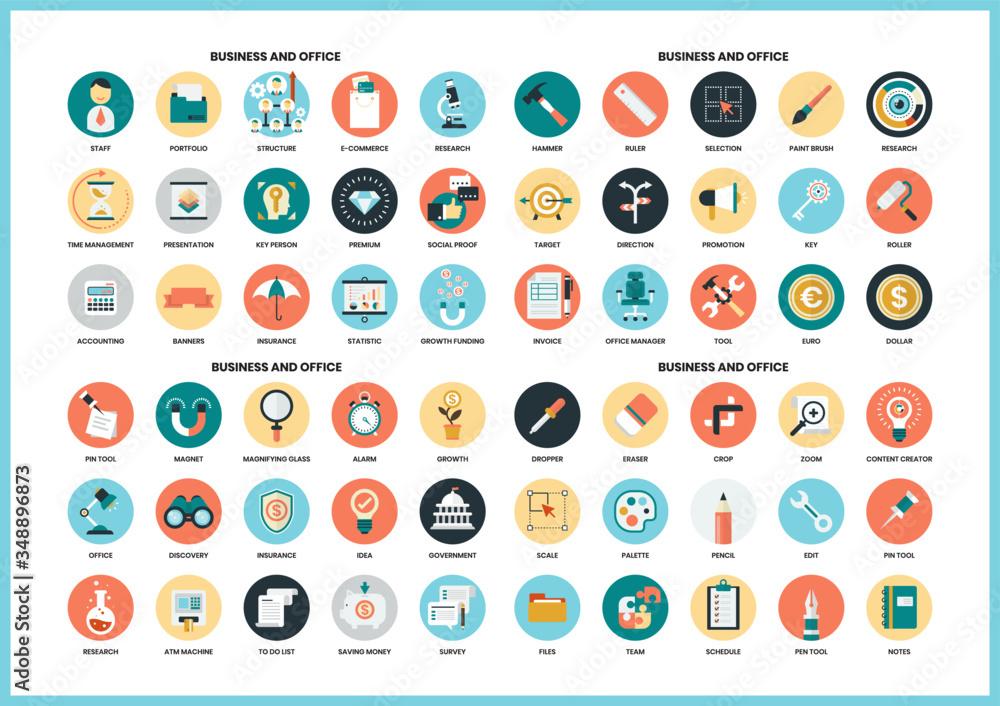 Fototapeta Business icons set for business