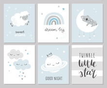 Set Of Cute Baby Shower Cards ...