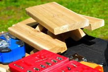 Building A Wooden Picnic Table...