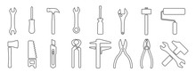 Working Tools Or Instrument Icon Set