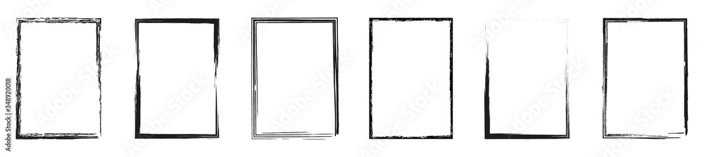 Fototapeta Grunge frame collection. Grounge border set. Vector illustration